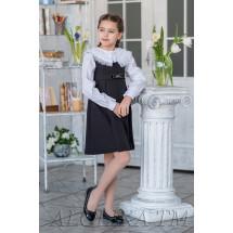 """Сарафан для девочек черного цвета с бантиком """"Лента"""""""